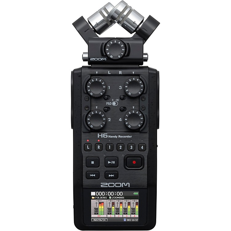 Zoom H6 Pro Handheld Recorder, All-Black Edition