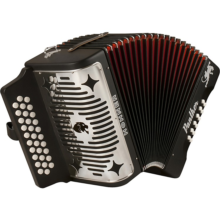 Hohner HA-3100 Panther GCF Diatonic Accordion Matte Black