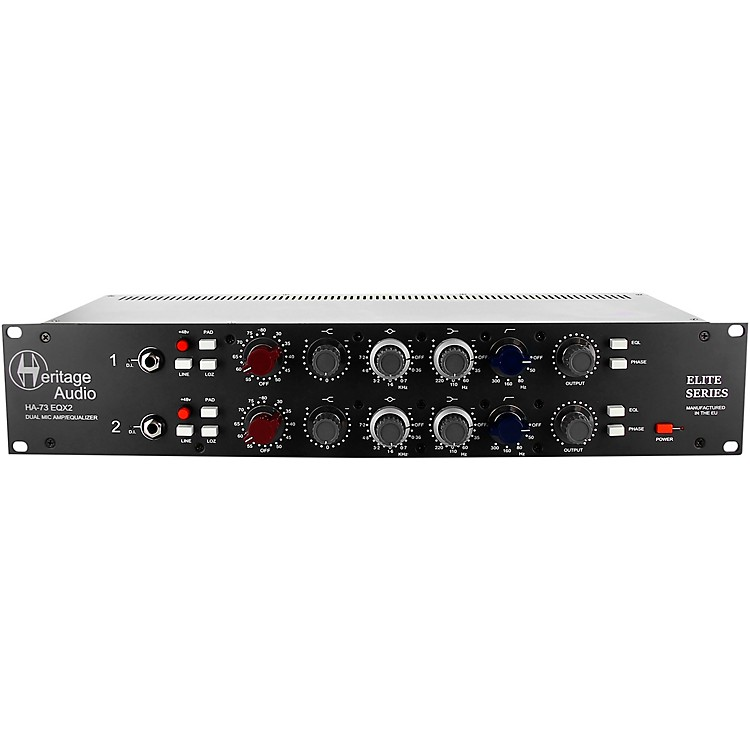Heritage Audio HA73EQX2 Dual-Channel Full Rack Mic Pre with EQ