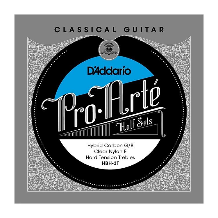 D'AddarioHBH-3T Pro-Arte Hard Tension Classical Guitar Strings Half Set
