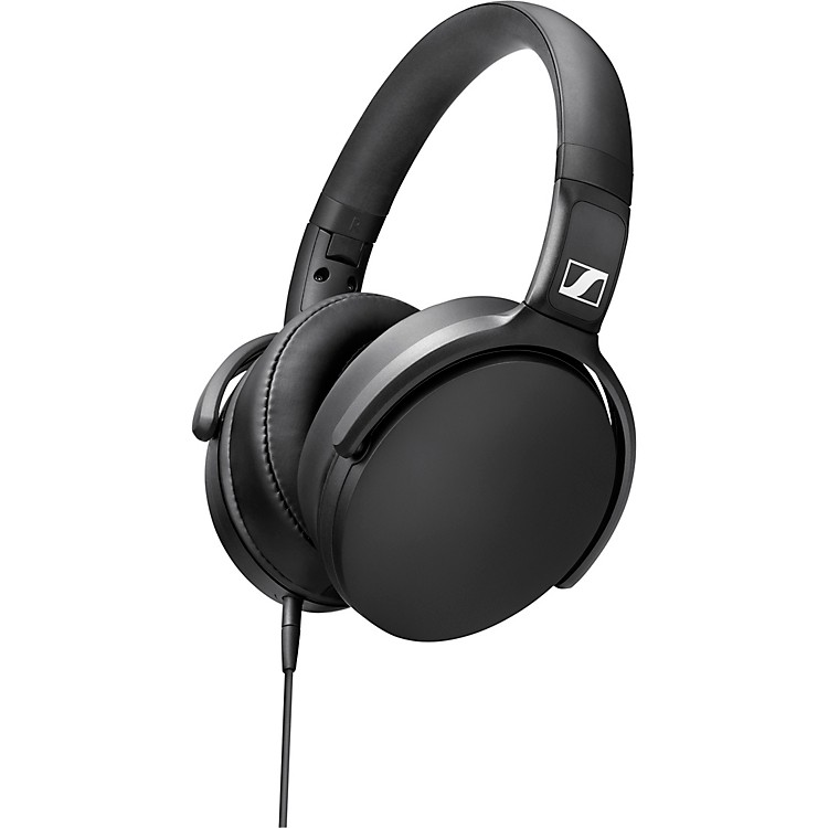 SennheiserHD 400S Foldable Closed-Back Headphones with One-Button Remote Mic in Black
