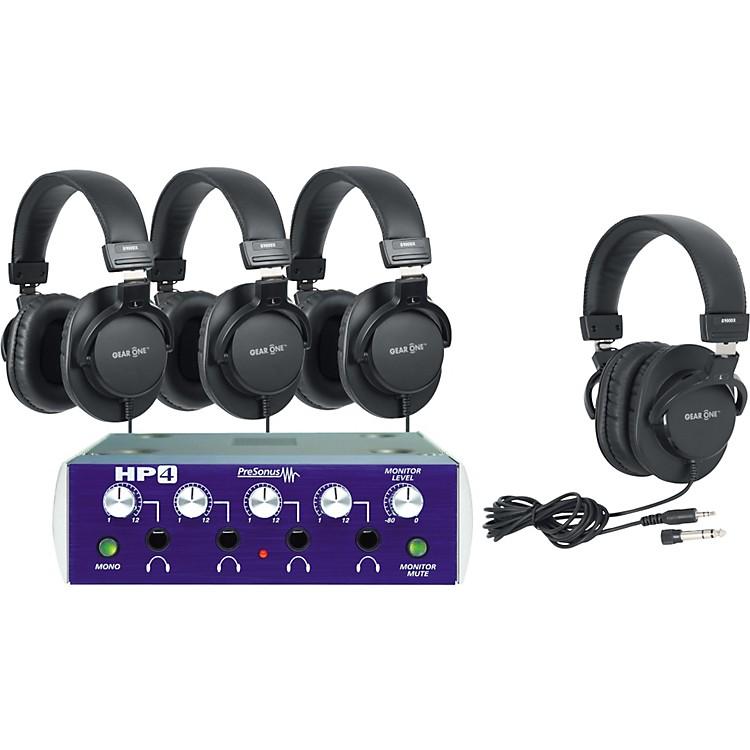 PreSonusHP4 Headphone Amp with 4 Headphones