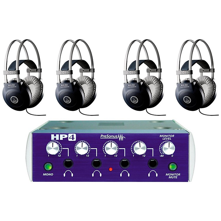 PreSonus HP4 and M80 MKII Headphone Package (4-pack)