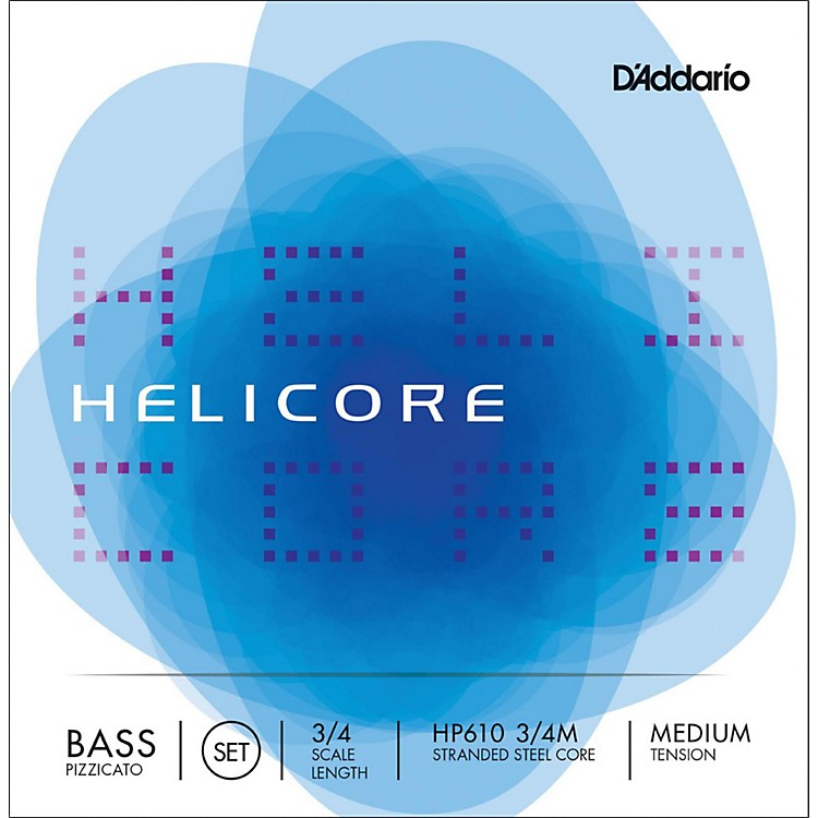 D'Addario HP610 Helicore Pizzicato 3/4 Size Double Bass String Set 3/4 Size Medium