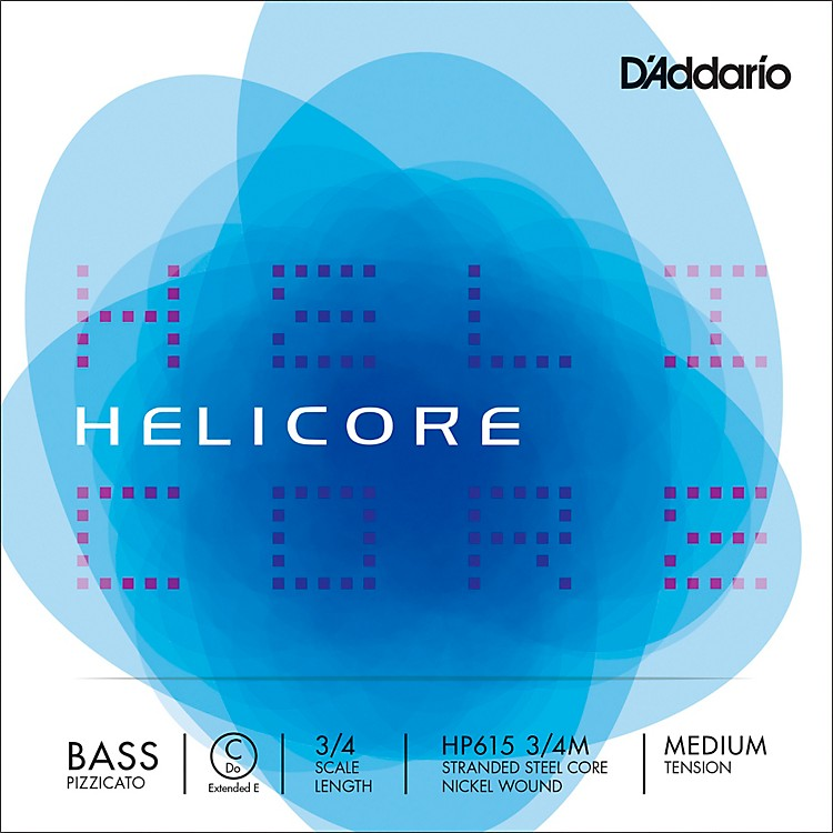 D'Addario HP615 Helicore Pizzicato 3/4 Size Double Bass C (ext. E) String 3/4 Size Light