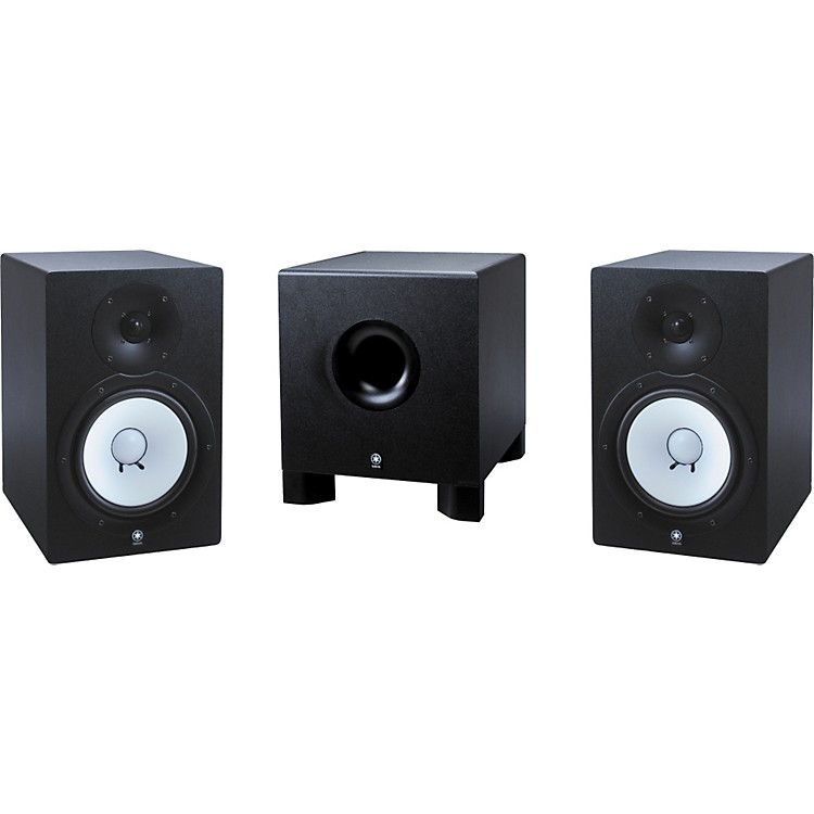 yamaha hs 80m hs 10w 2 1 powered monitor package music123. Black Bedroom Furniture Sets. Home Design Ideas