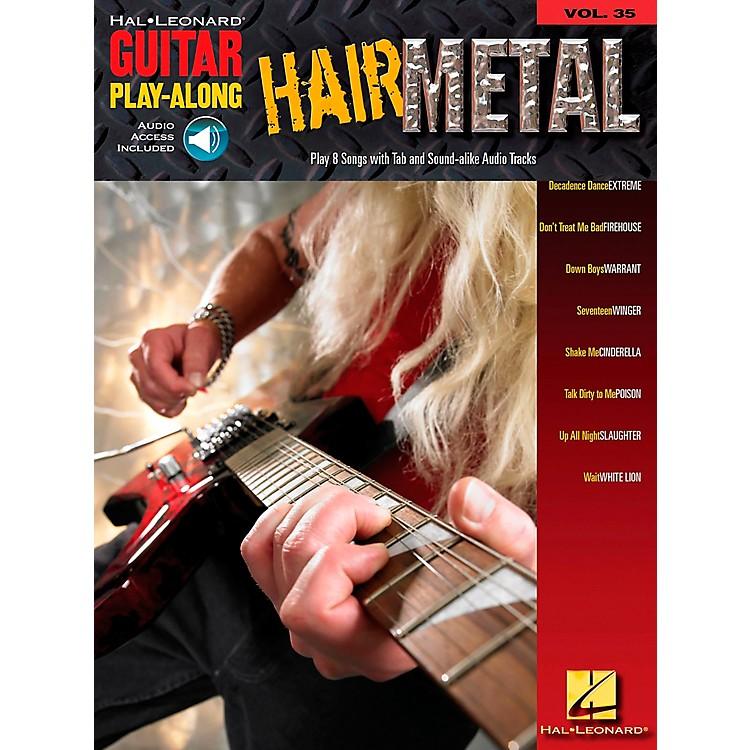 Hal LeonardHair Metal Guitar Play-Along Series Volume 35 Guitar Tab Songbook with CD