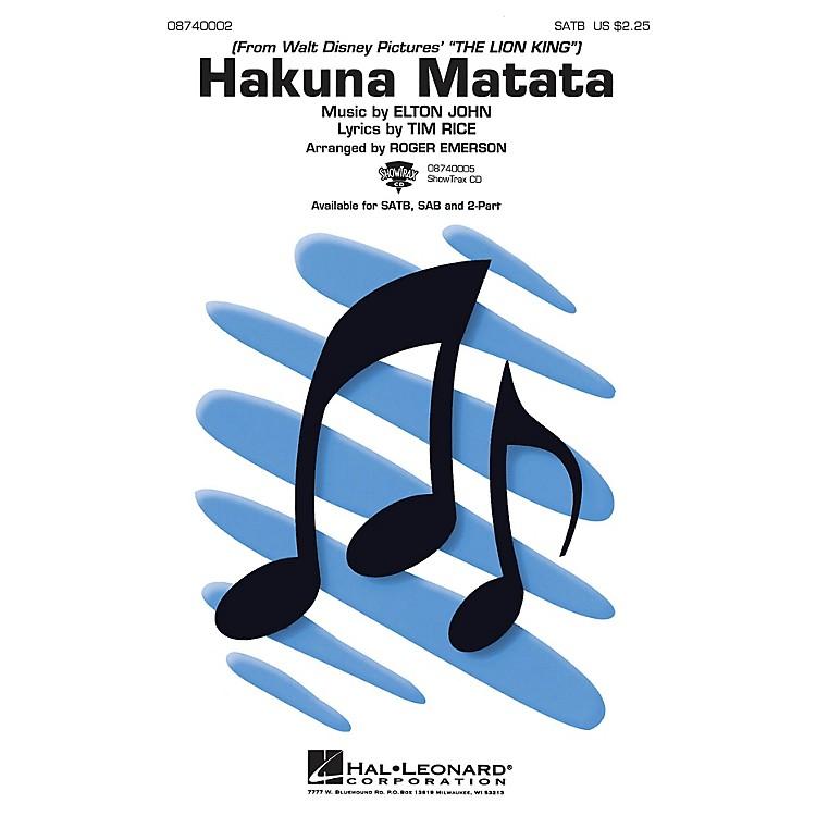 Hal LeonardHakuna Matata (from The Lion King) SAB Arranged by Roger Emerson