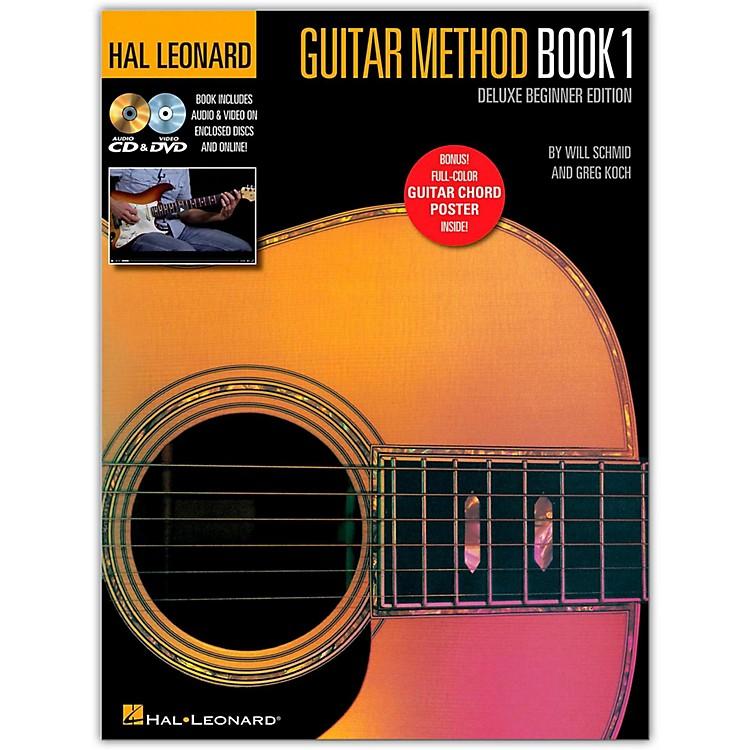 Hal LeonardHal Leonard Guitar Method Book 1 Deluxe Beginner Edition - Book/DVD/CD/Poster/Audio/Video