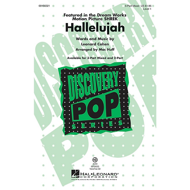 Hal LeonardHallelujah (Discovery Level 1) 3-Part Mixed arranged by Mac Huff
