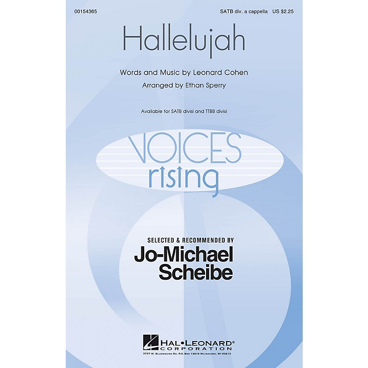Hal Leonard Hallelujah (Selected and Recommended by Jo-Michael Scheibe) TTBB Div A Cappella Arranged by Ethan Sperry