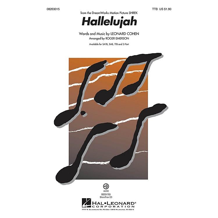 Hal LeonardHallelujah TTB arranged by Roger Emerson