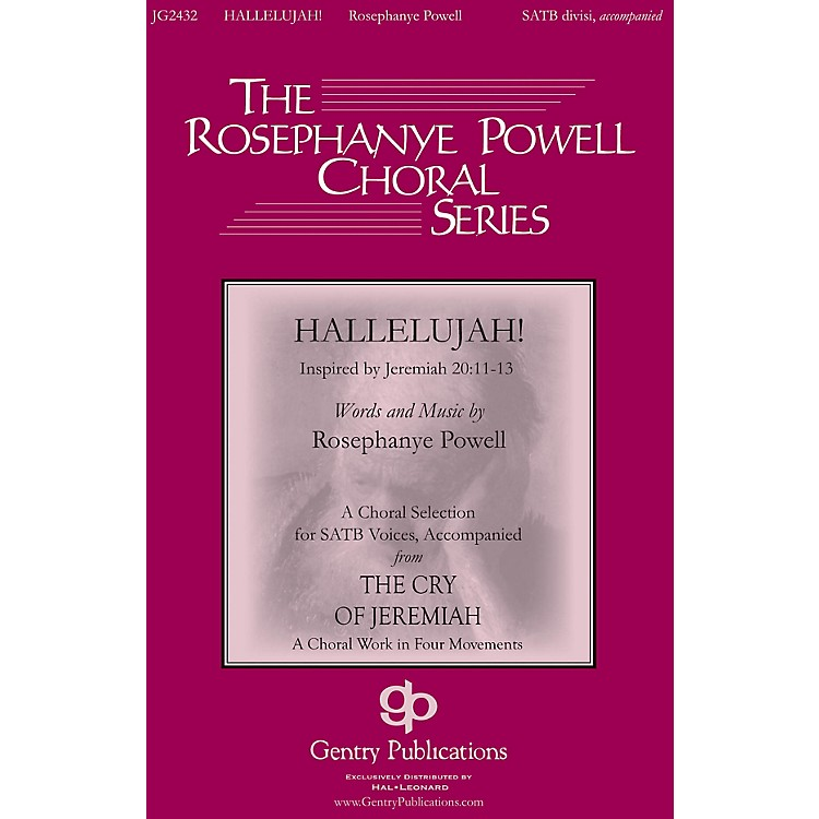 Gentry Publications Hallelujah (from The Cry of Jeremiah) SATB composed by Rosephanye Powell