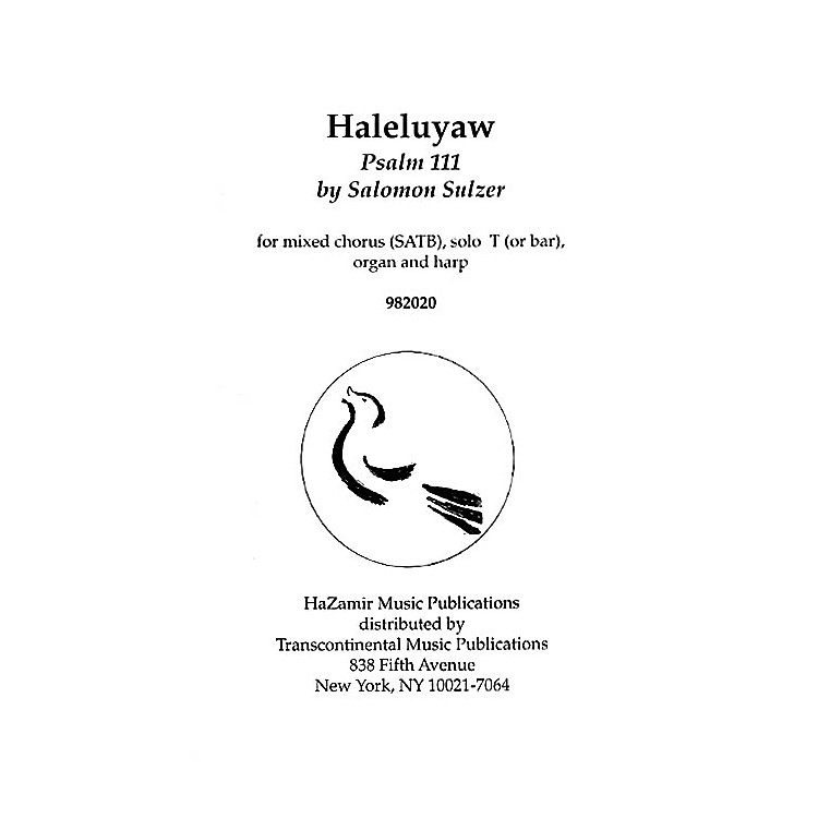 Transcontinental Music Halleluyaw SATB arranged by Joshua Jacobson