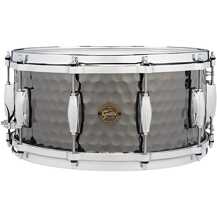 Gretsch Drums Hammered Black Steel Snare 14 x 6.5 in.