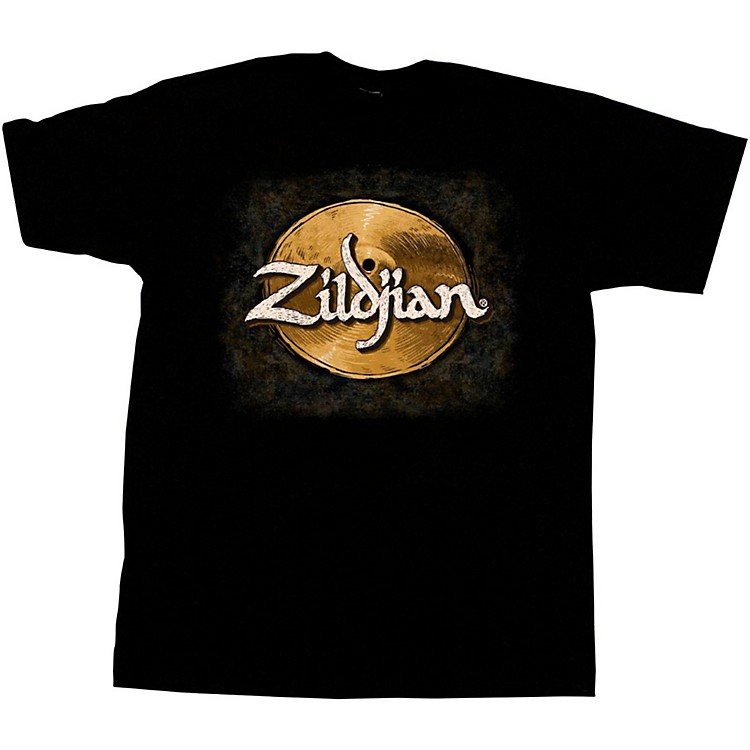 Zildjian Hand-Drawn Cymbal T-Shirt Black Large