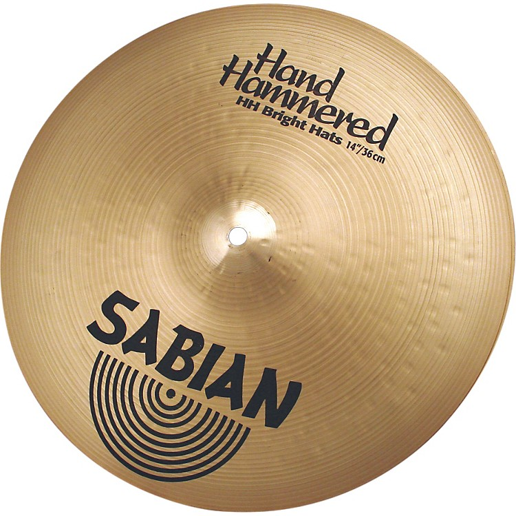 Sabian Hand Hammered Bright Hi-Hats Brilliant 14 in.