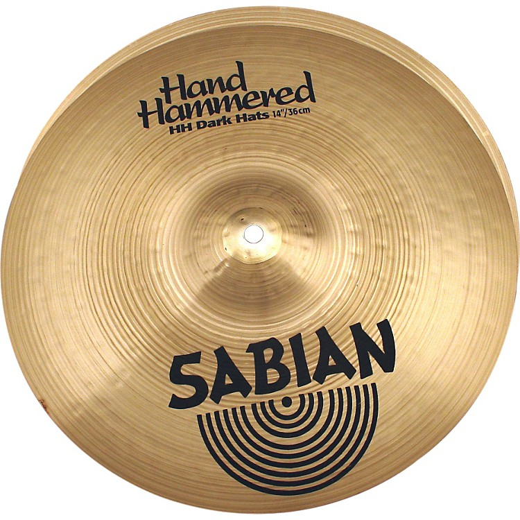 Sabian Hand Hammered Dark Hi-Hat Cymbal Pair 14 in.
