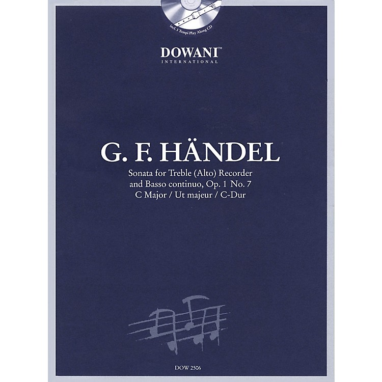 Dowani EditionsHandel: Sonata in C Major, Op. 1, No. 7 for Treble (Alto) Recorder and Basso Continuo Dowani Book/CD