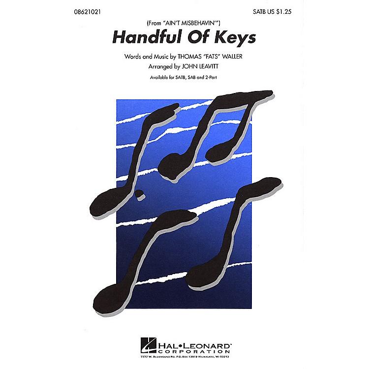 Hal LeonardHandful of Keys SATB arranged by John Leavitt