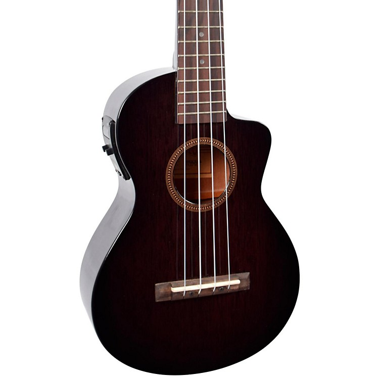 MahaloHano Elite Series MH2CE Acoustic-Electric Concert UkuleleTransparent Black