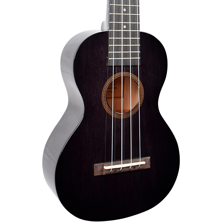 Mahalo Hano Series MH2W Wide Neck Concert Ukulele Transparent Black