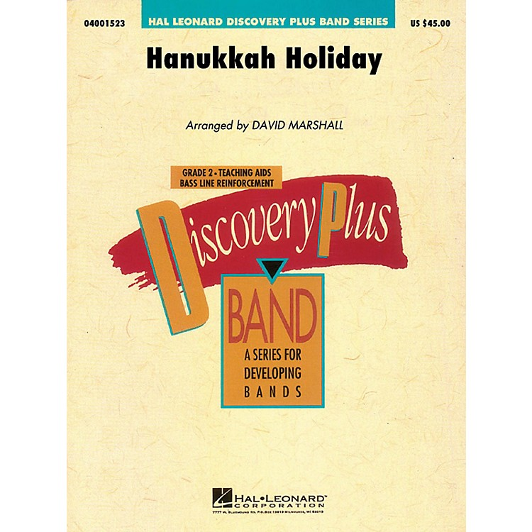 Hal Leonard Hanukkah Holiday - Discovery Plus Concert Band Series Level 2 arranged by David Marshall