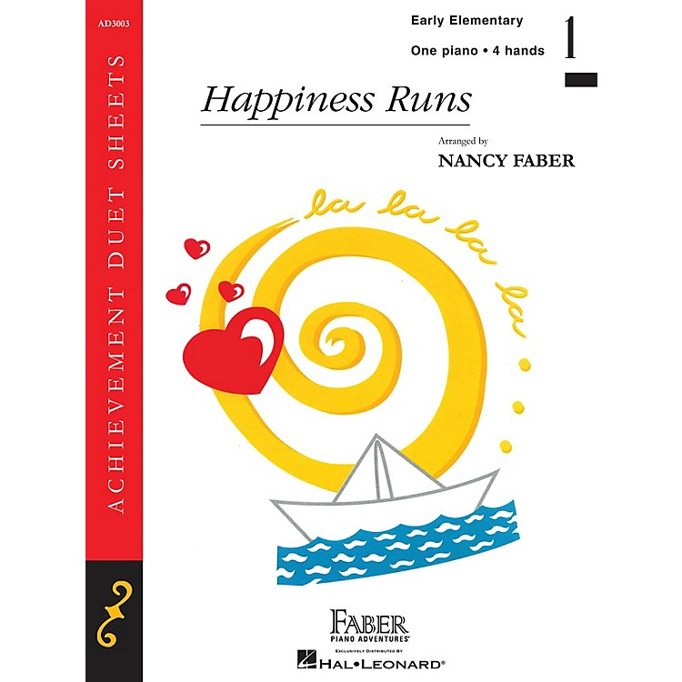 Faber Piano AdventuresHappiness Runs (Early Elem/Level 1 Piano Duet) Faber Piano Adventures® Series