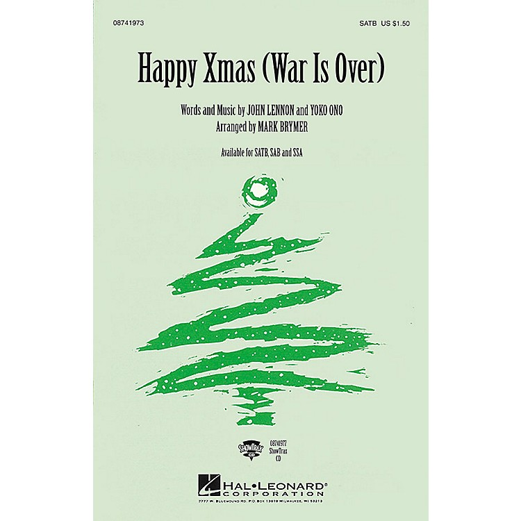Hal Leonard Happy Xmas (War Is Over) SAB by Celine Dion Arranged by Mark Brymer