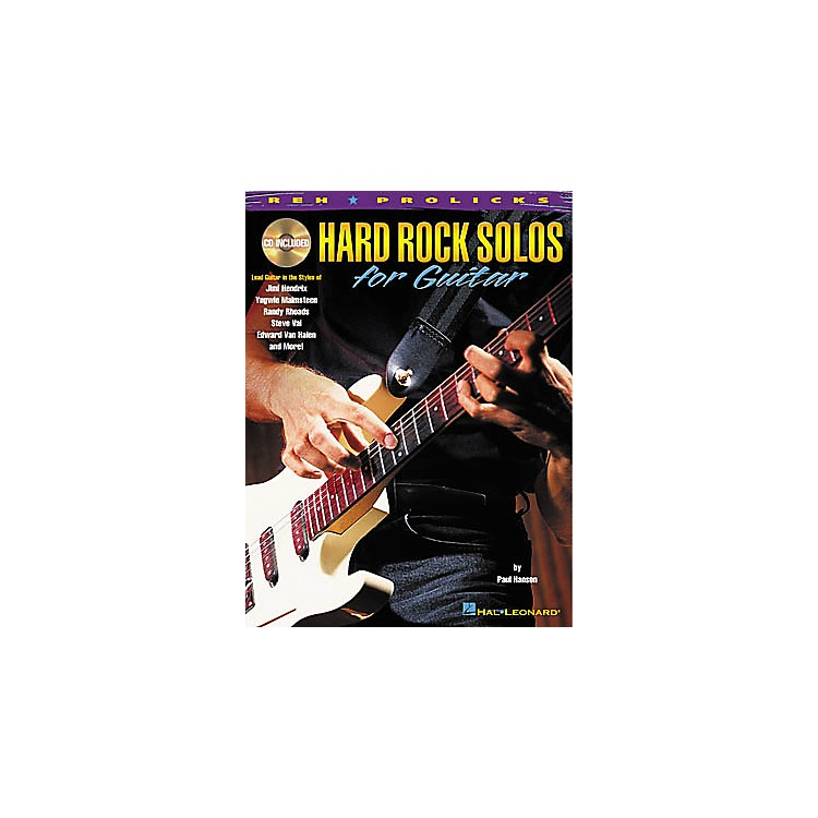 Hal Leonard Hard Rock Solos for Guitar Book with CD