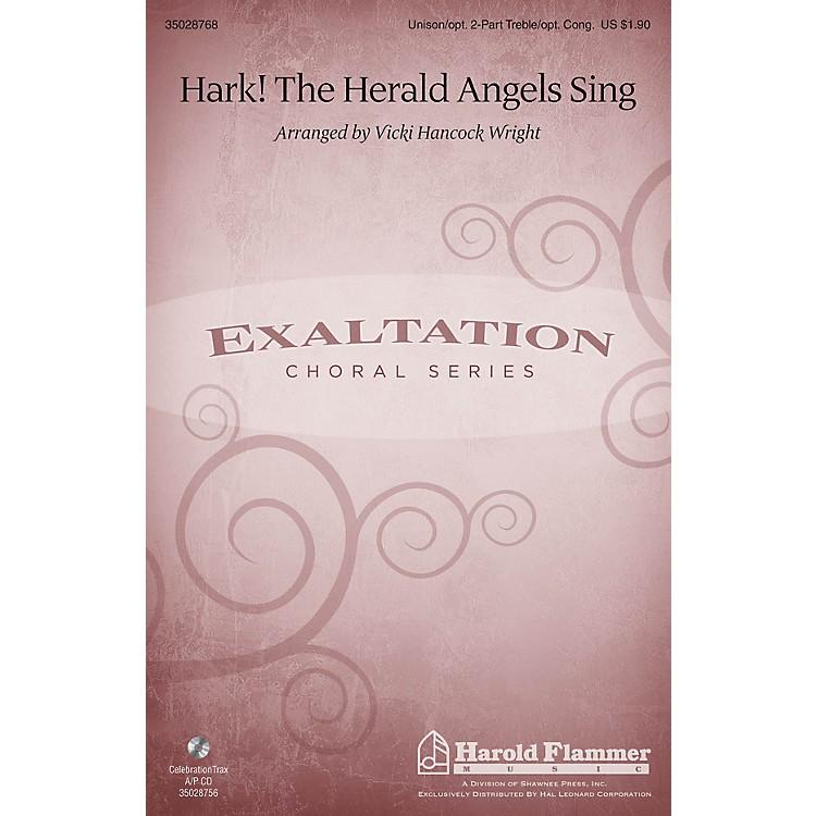 Shawnee PressHark! The Herald Angels Sing Unison/2-Part Treble arranged by Vicki Hancock Wright