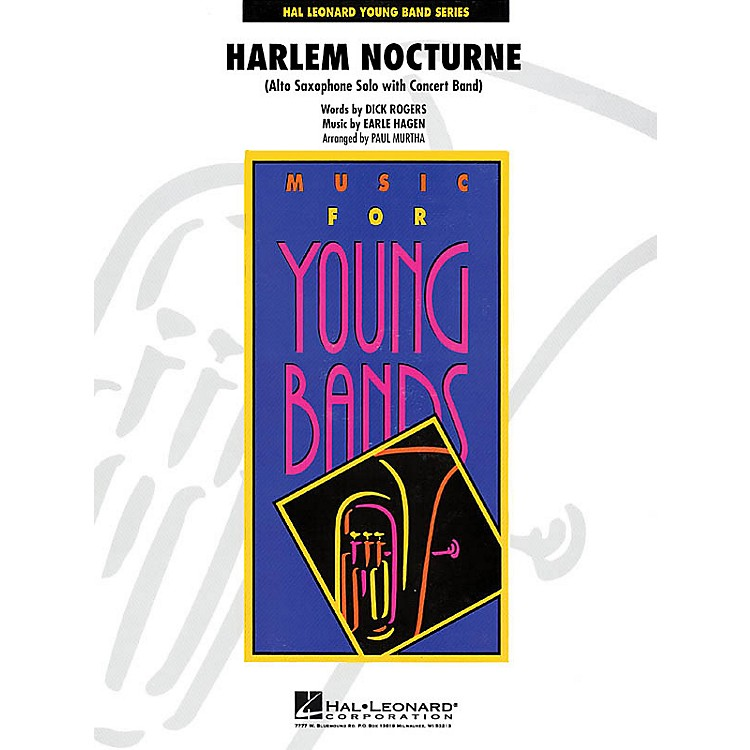 Hal Leonard Harlem Nocturne (Alto Sax Solo with Band) - Young Concert Band Series Level 3 arranged by Paul Murtha