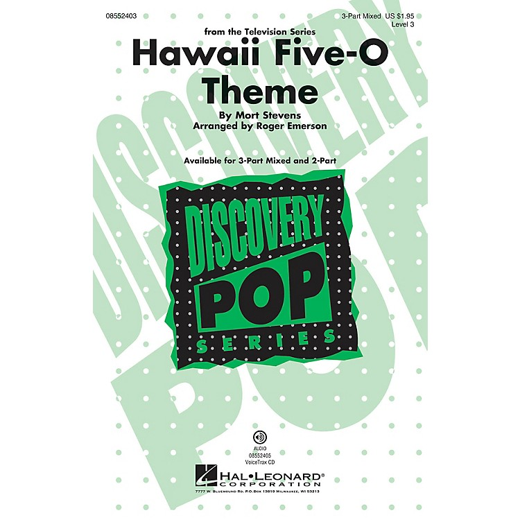 Hal LeonardHawaii Five-O Theme (Discovery Level 3) 2-Part Arranged by Roger Emerson