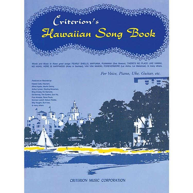 Criterion Hawaiian Song Book Criterion Series Softcover