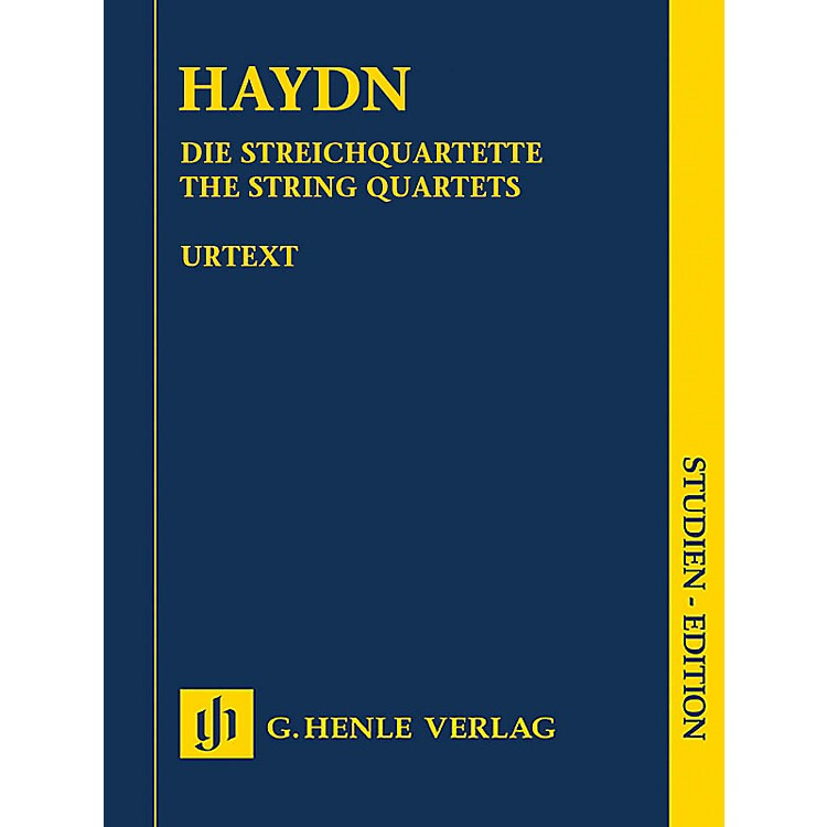 G. Henle VerlagHaydn: The String Quartets - Henle Study Scores Series, Edited by Sonja Gerlach