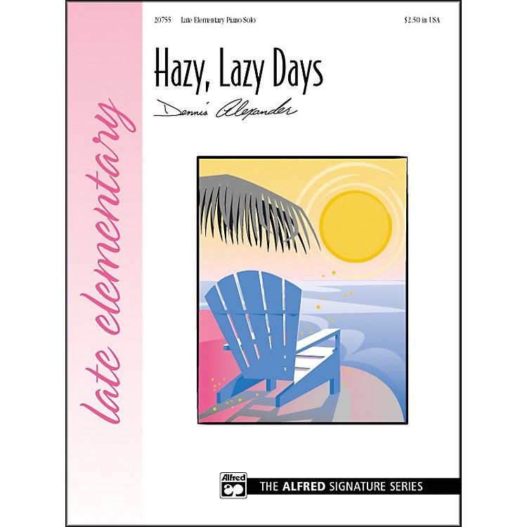 AlfredHazy Lazy Days Late Elementary Piano Sheet