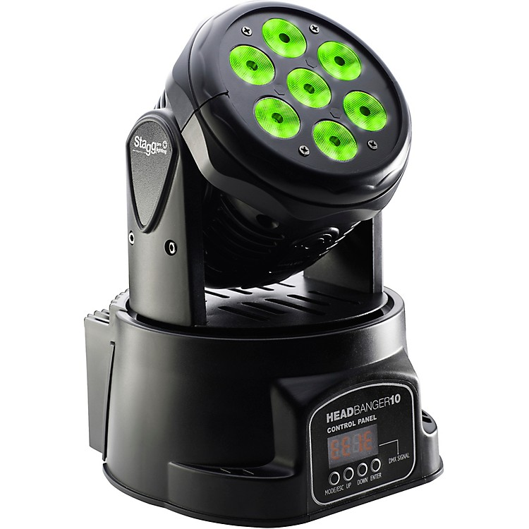 StaggHeadBanger 10 Moving-Head RGBW LED Wash Light