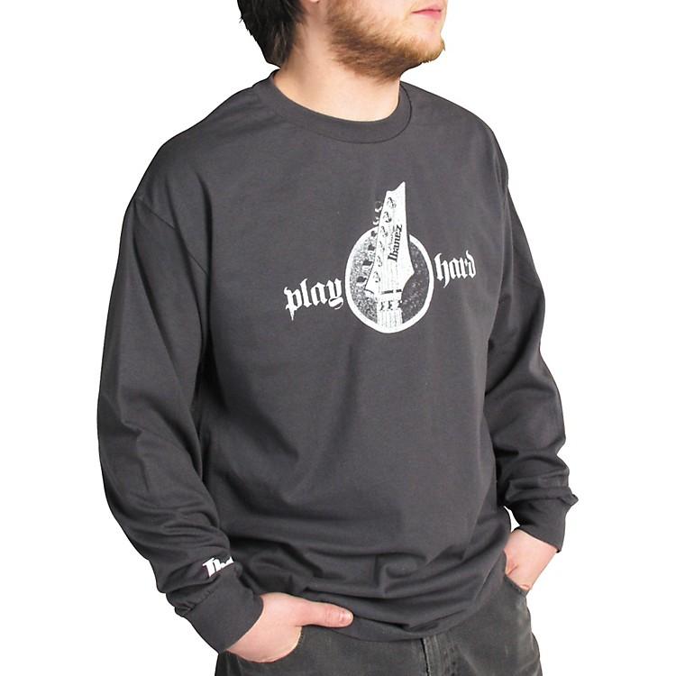 IbanezHeadstock Long Sleeve ShirtGrayLarge
