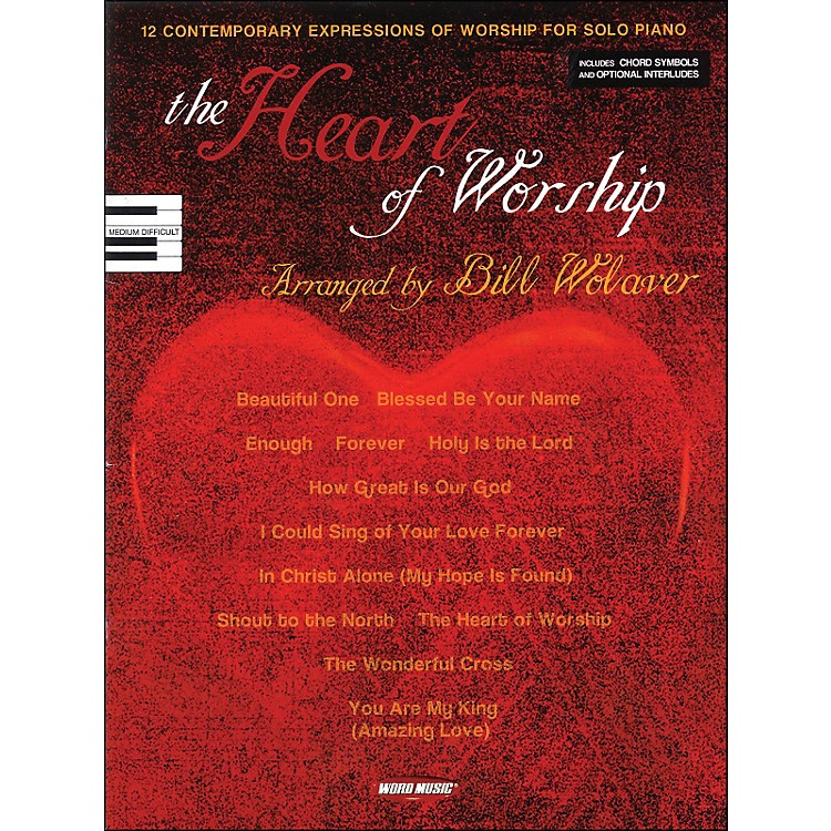 Word Music Heart Of Worship arranged for piano, vocal, and guitar (P/V/G)