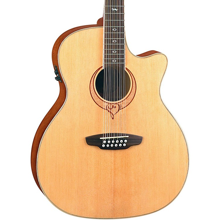 Luna Guitars Heartsong 12-String Acoustic-Electric Guitar With USB Natural