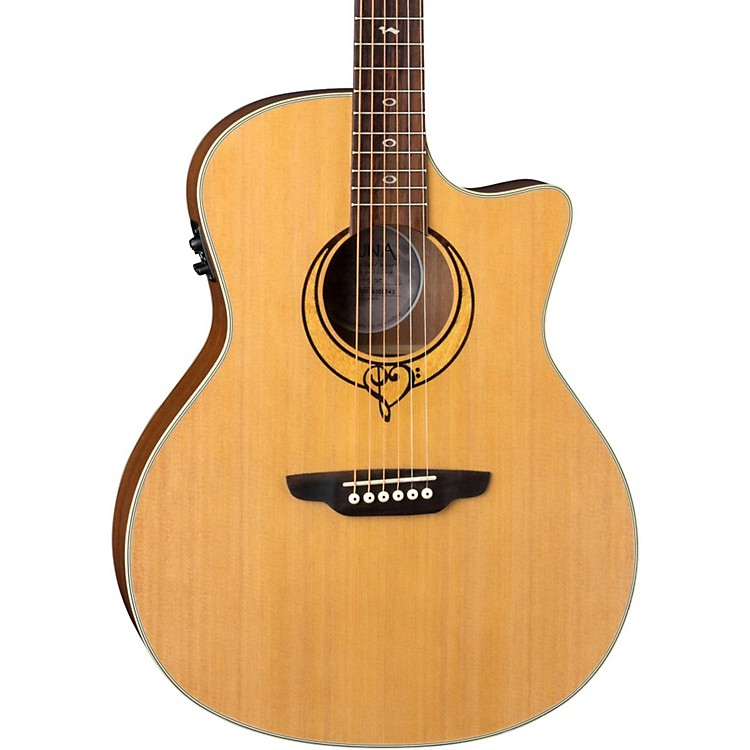 Luna Guitars Heartsong Grand Concert Acoustic-Electric Guitar Natural