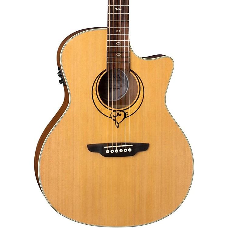 Luna GuitarsHeartsong Grand Concert Acoustic-Electric GuitarNatural