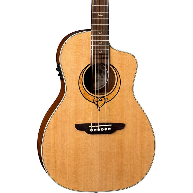 Luna GuitarsHeartsong Parlor with USB Acoustic-Electric GuitarNatural