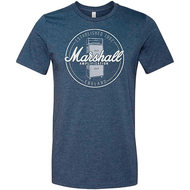 Marshall Heather Soft Style Ring Spun Cotton T-Shirt Established Navy Small