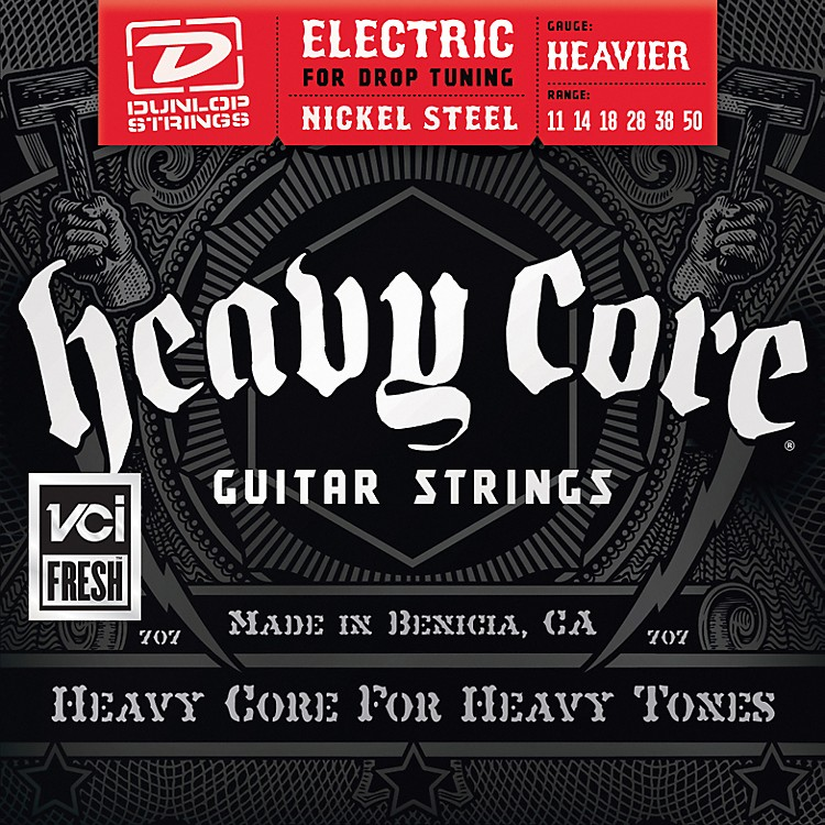 DunlopHeavy Core Electric Guitar Strings - Heavier Gauge
