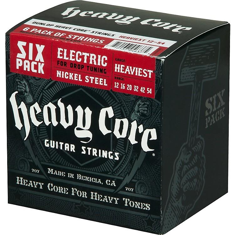 DunlopHeavy Core Electric Guitar Strings Heaviest 6-Pack