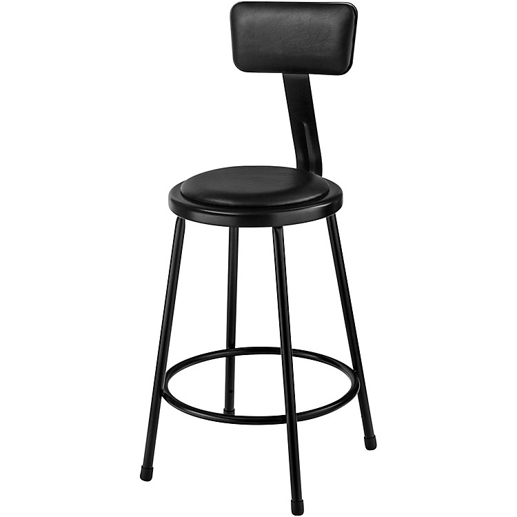 National Public SeatingHeavy Duty Vinyl Padded Steel Stool With Backrest24