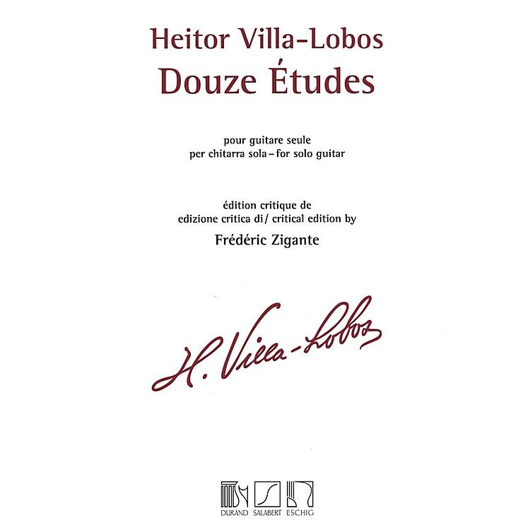 Max EschigHeitor Villa-Lobos - 12 Études (Solo Guitar) MGB Series