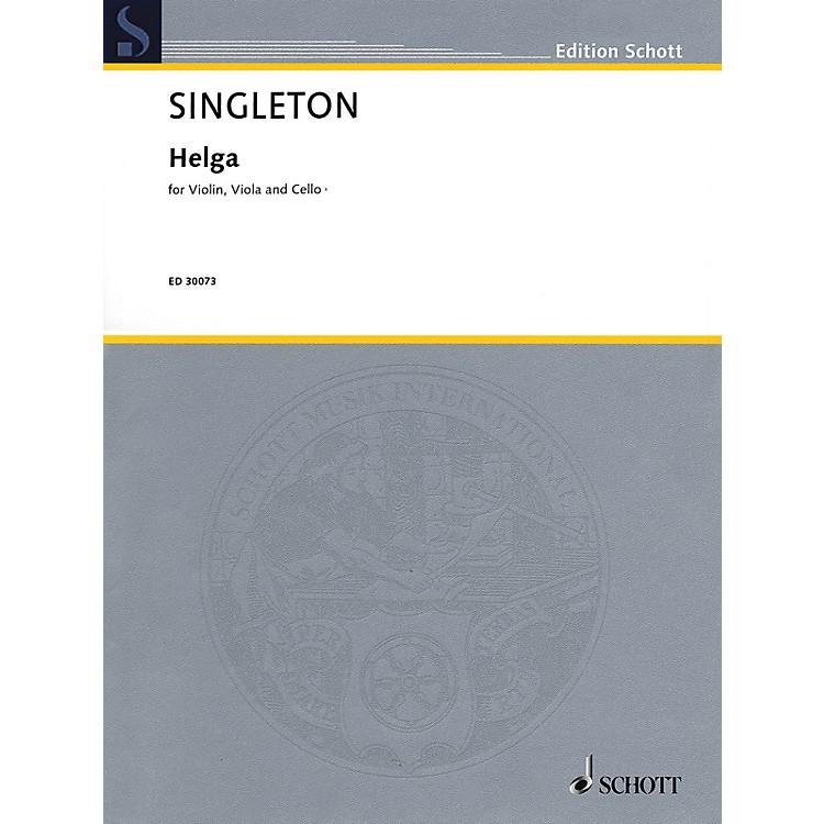 Schott Music Corporation New YorkHelga (Violin, Viola, and Cello) String Series Composed by Alvin Singleton