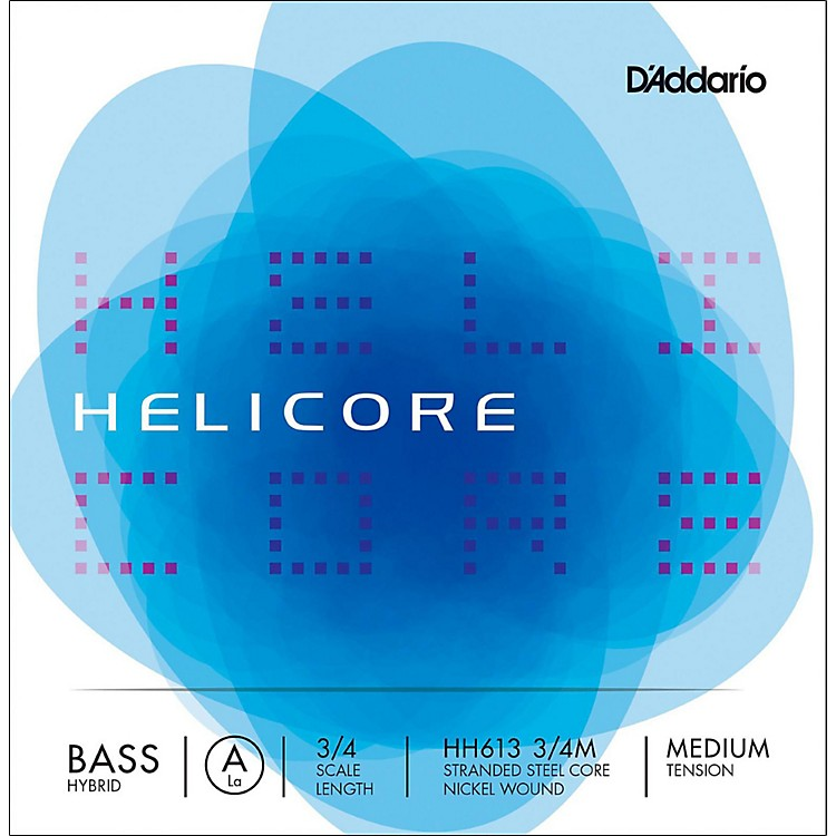 D'Addario Helicore Hybrid Series Double Bass A String 3/4 Size Medium